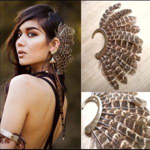 Jewelry - Burning man feather earring cuff